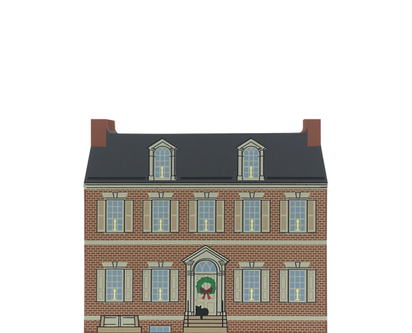 """Vintage The Goundie House from Bethlemen Christmas Series handcrafted from 3/4"""" thick wood by The Cat's Meow Village in the USA"""