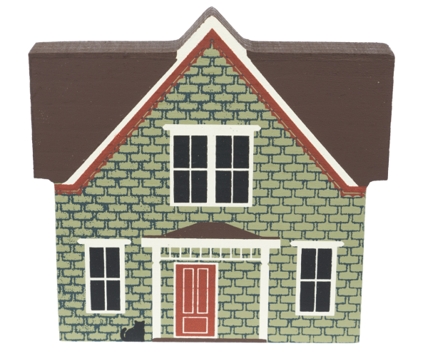 "Vintage Vandenberg House from Series IV handcrafted from 3/4"" thick wood by The Cat's Meow Village in the USA"