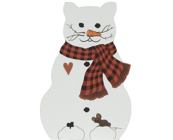 Cat Snowman, cat and mouse