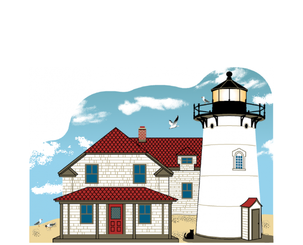 The historic Race Point Lighthouse is on Cape Cod in Provincetown, Massachusetts. If you're lucky enough to grab an overnight reservation, you'll have the night of a lifetime staying in the keeper's house.
