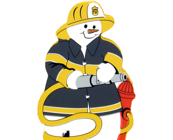 fireman, firefighter, rescue, snowman