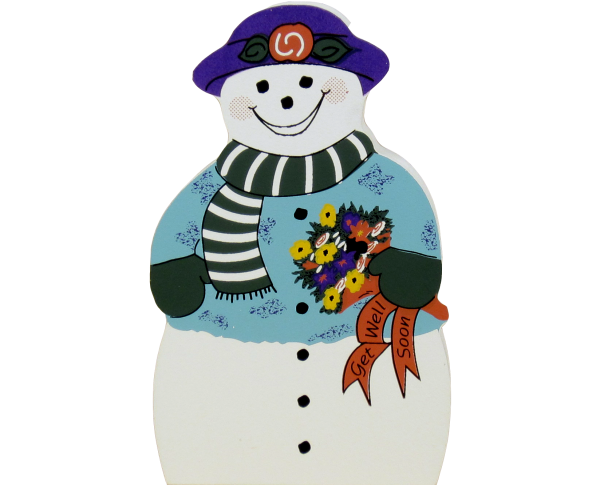 Get Well Wishes Snowman