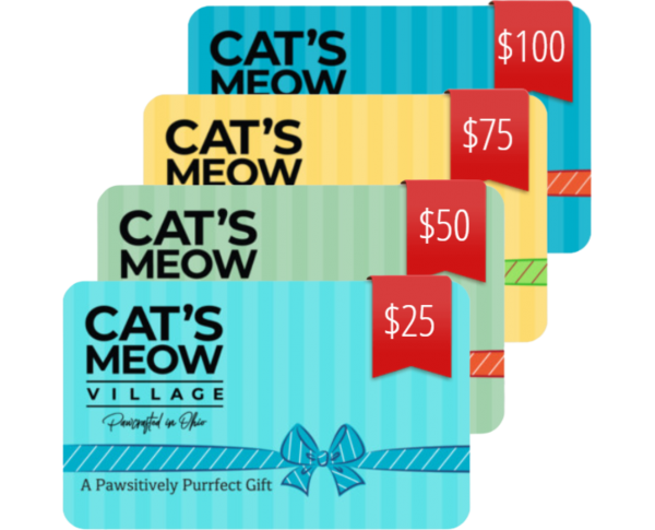 Purchase an egift card to give to your favorite Cat's Meower. You're sure to make them curl up and purr!