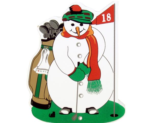 golf, golfing, Golfing Snowman, putter,