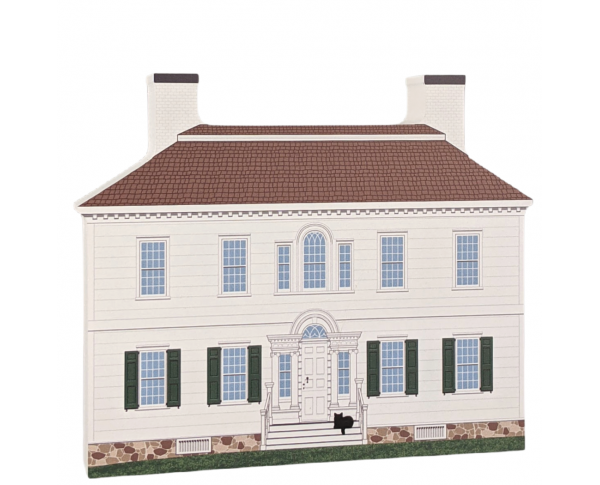 "Ford Mansion, Morristown, New Jersey. Handcrafted in the USA 3/4"" thick wood by Cat's Meow Village."