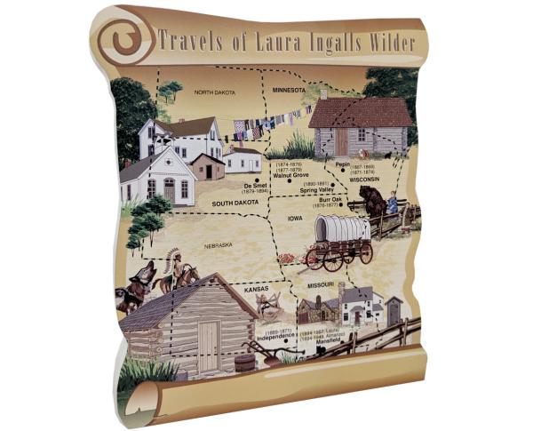 Map, Travels of Laura Ingalls Wilder