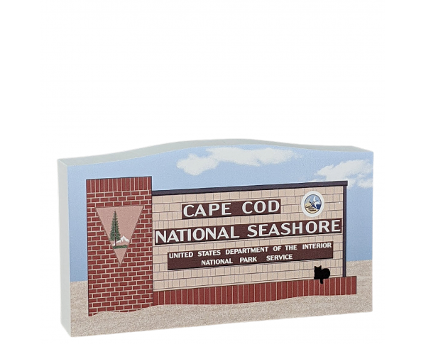 "Cape Cod National Seashore Sign handcrafted in 3/4"" thick wood by The Cat's Meow Village in the USA."