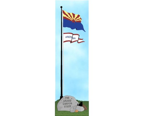 Cat's Meow State Flag representing Arizona