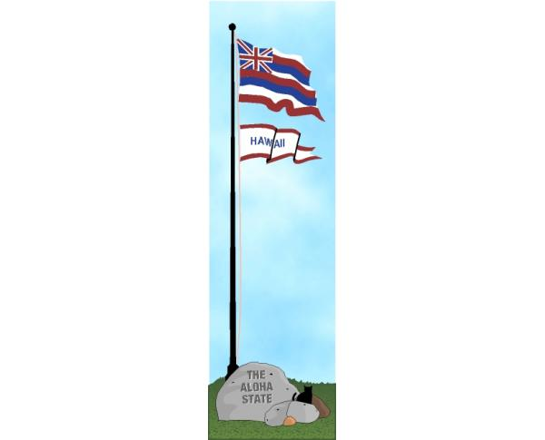Cat's Meow State Flag representing Hawaii