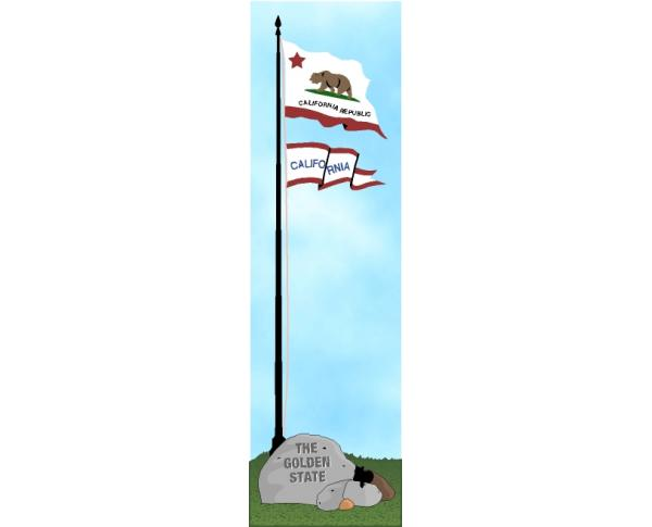 Cat's Meow State Flag representing California