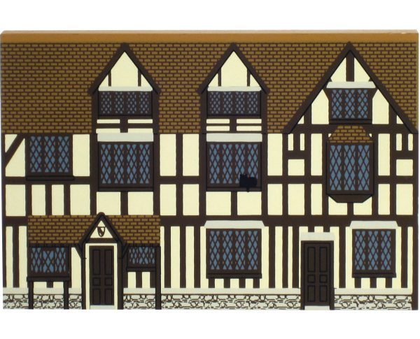 Shakespeare's Birthplace in Stratford Upon Avon handcrafted in wood by The Cat's Meow Village