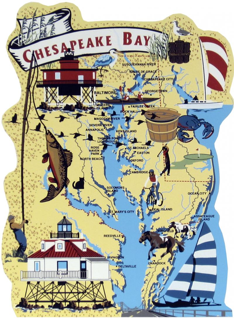 Chesapeake Bay Map | The Cat\'s Meow Village