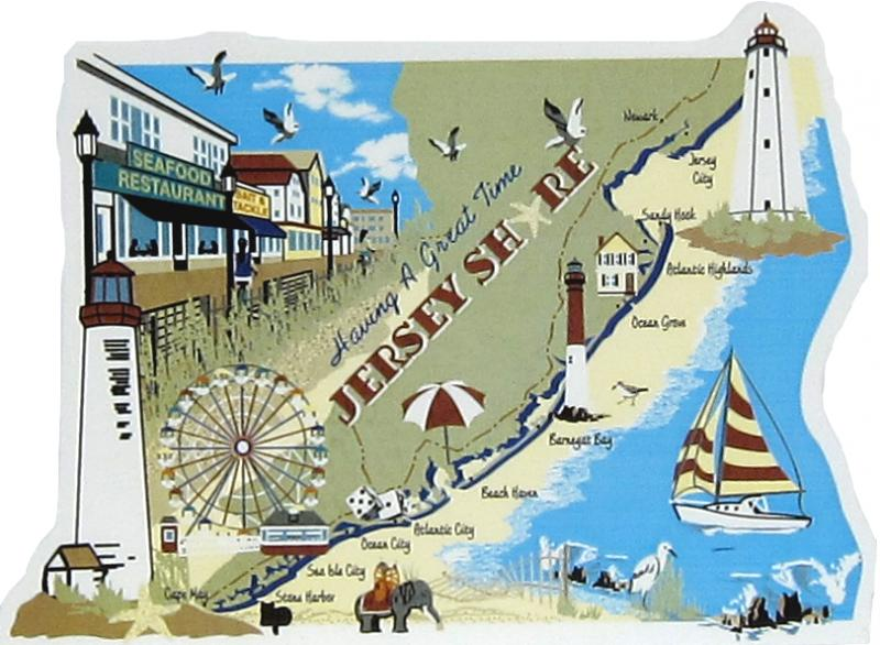 New Jersey Shore Map Jersey Shore Map | The Cat's Meow Village