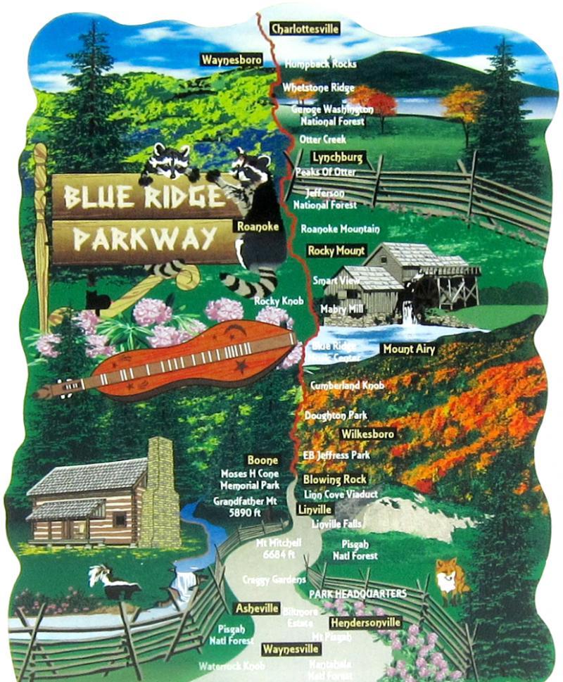 Blue Ridge Parkway Map | The Cat\'s Meow Village
