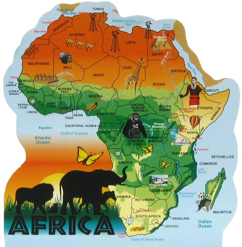 Africa Map The Cats Meow Village