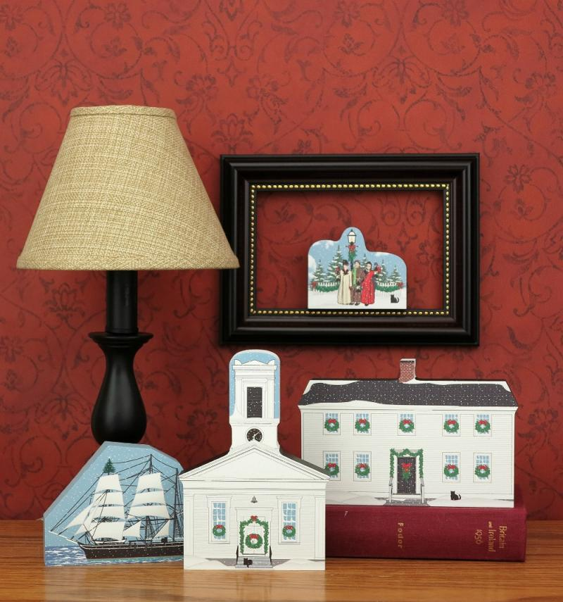 ... Handcrafted Home Display Of A Few Of The Mystic Seaport Christmas  Collection, By The Catu0027s Meow