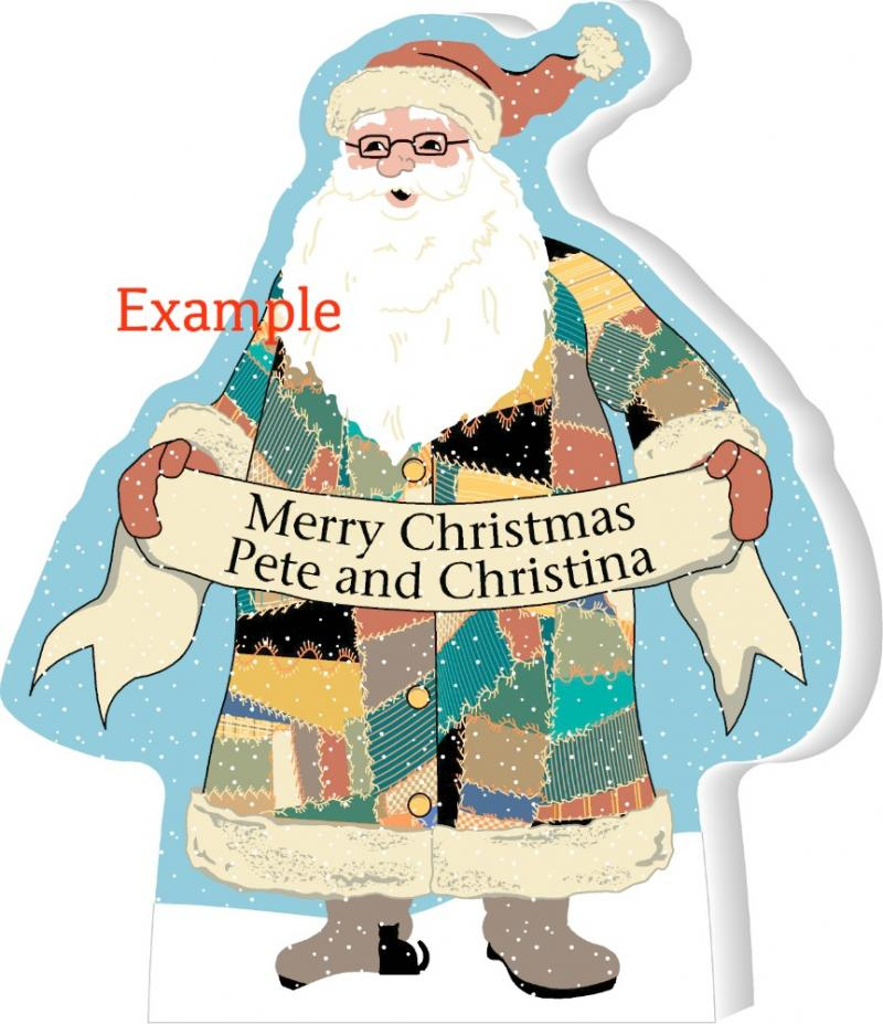 Santa quilted santa greetings standing purrsonalize me the give a personalized gift this year to yourself family friends coworkers secret m4hsunfo