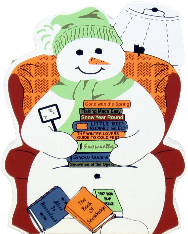Snowman Reading The snowman is sure to
