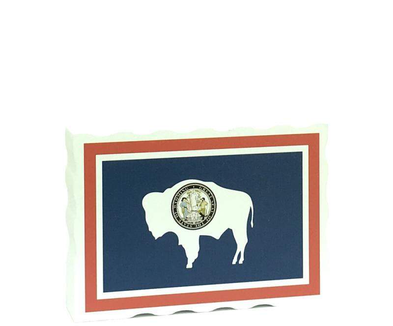 State Flag Postcard Wyoming The Cats Meow Village