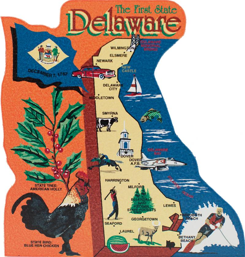 state map delaware the cat s meow village