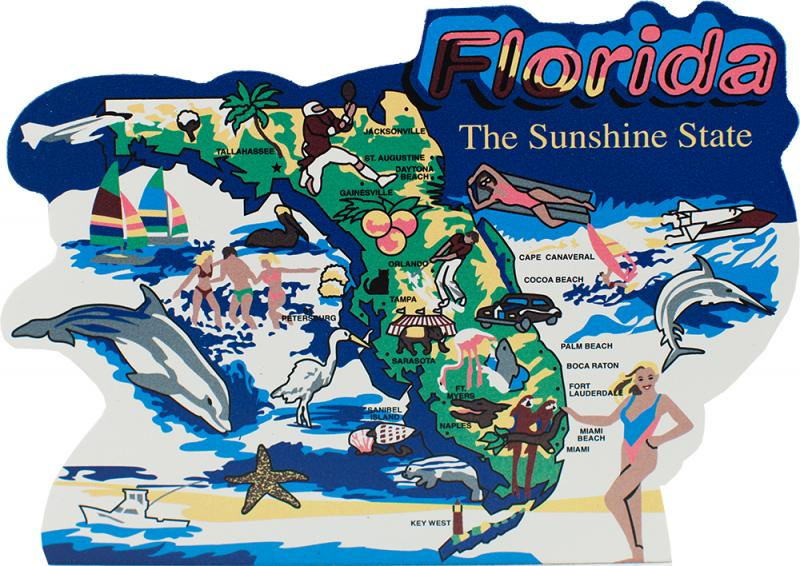 Show Map Of Florida.State Map Florida The Cat S Meow Village