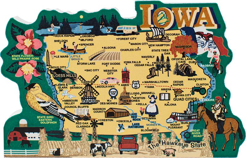 State Map Iowa The Cats Meow Village - Map of iowa
