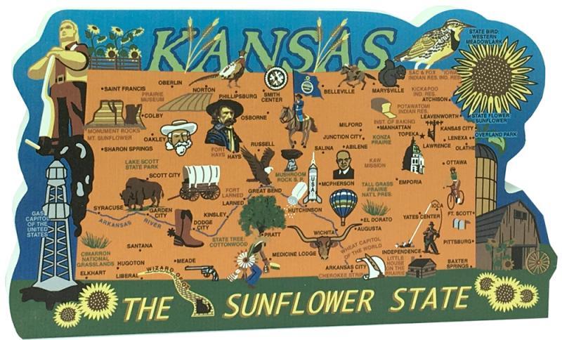 State Map Of Kansas.State Map Kansas The Cat S Meow Village