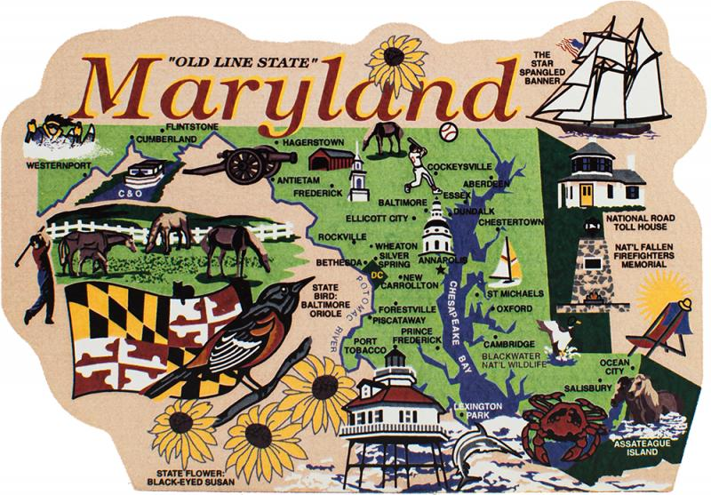 State Map, Maryland | The Cat's Meow Village