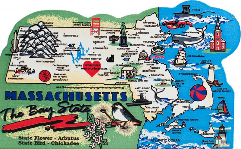 State Map Massachusetts The Cats Meow Village - Map of massachusets