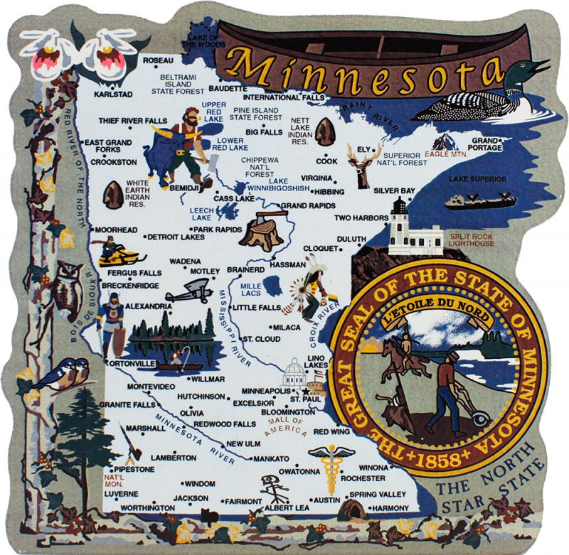 State Map Minnesota The Cats Meow Village - State of minnesota map