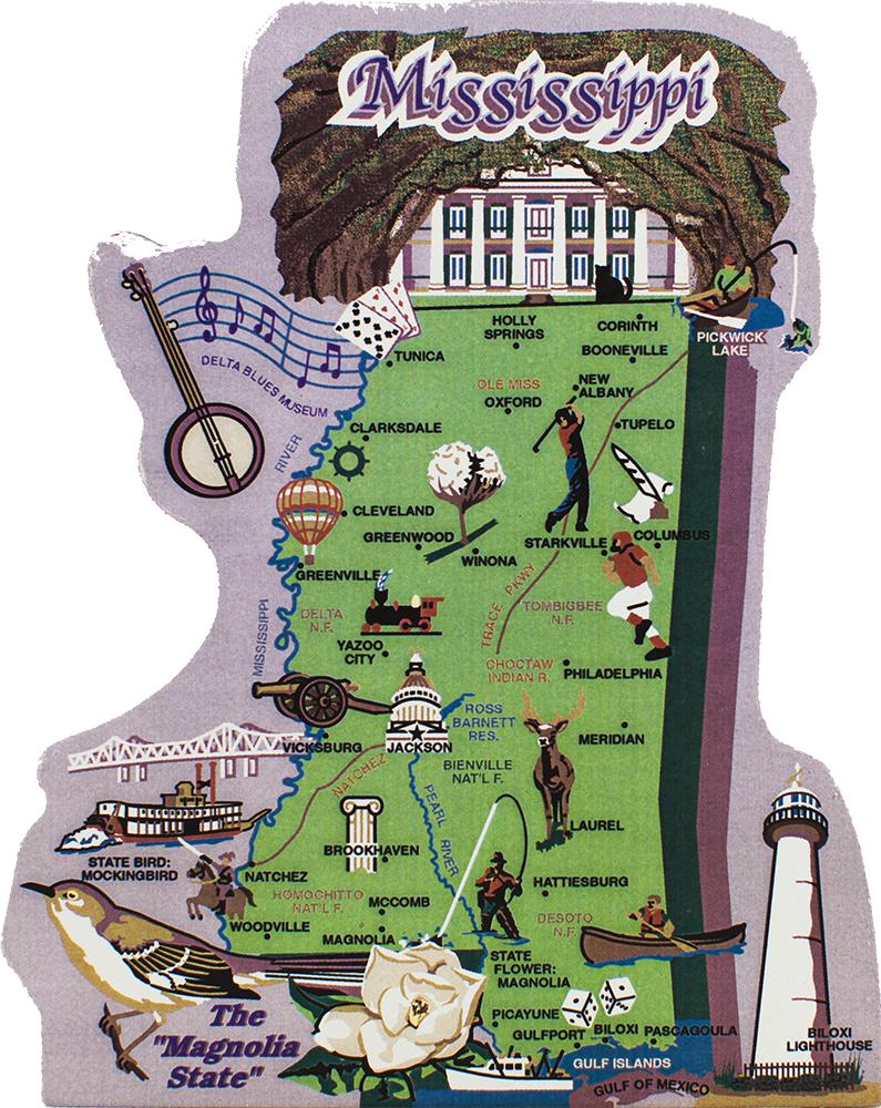 State Map Mississippi The Cats Meow Village - Map mississippi