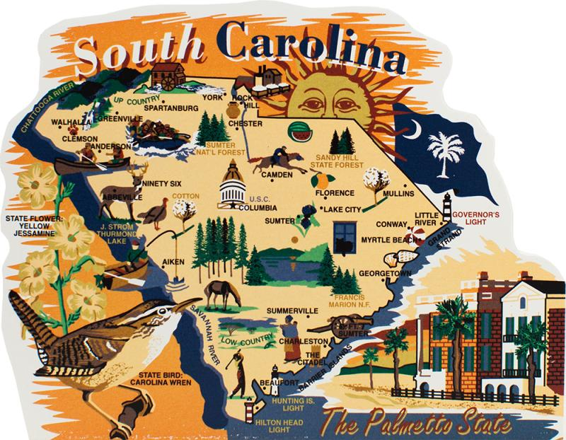 State Map South Carolina The Cat's Meow Village: South Carolina State Map At Codeve.org