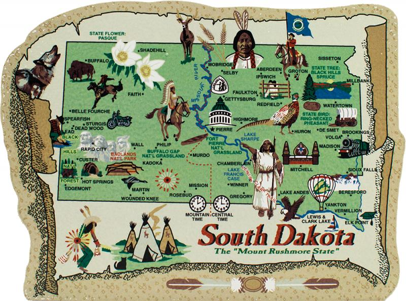 State Map South Dakota  The Cat39s Meow Village