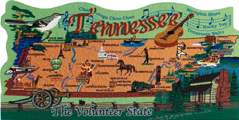 State Map, Tennessee | The Cat's Meow Village