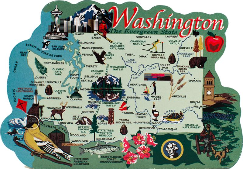 State Map Washington The Cats Meow Village - Washinton state map