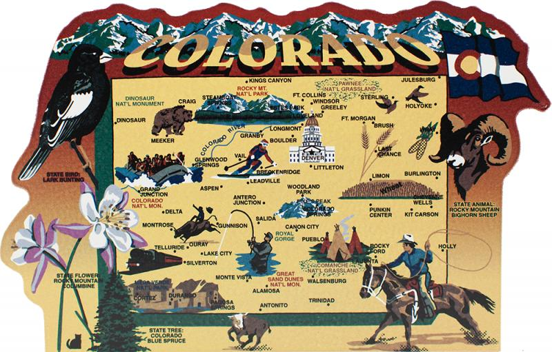 State Map Colorado The Cat S Meow Village