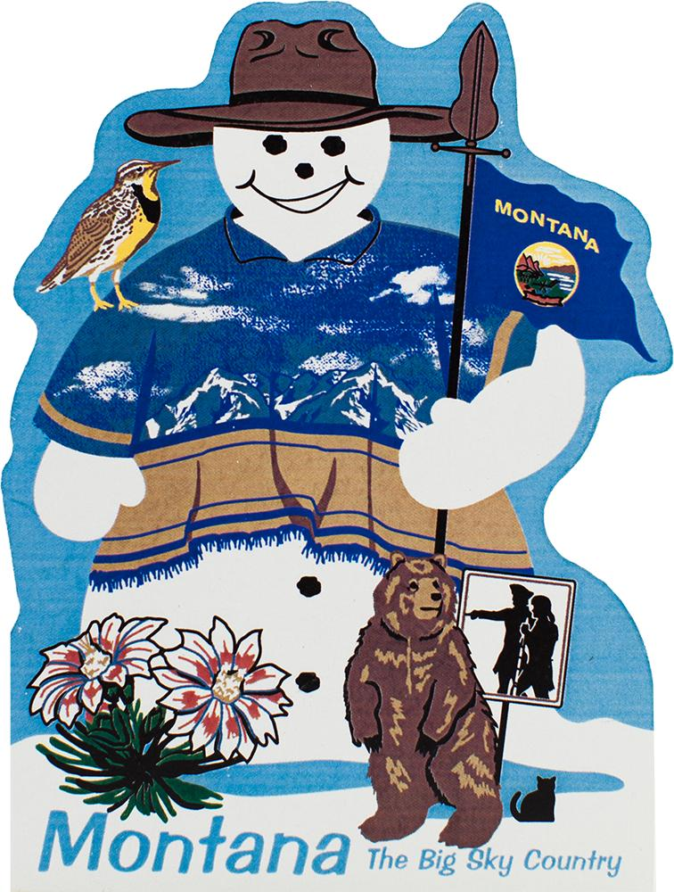 Montana State Snowman The Cat S Meow Village