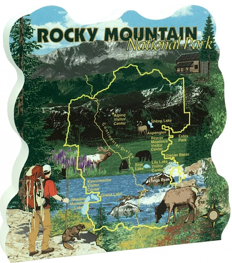 Rocky Mountain National Park Map, Colorado | The Cat\'s Meow ...