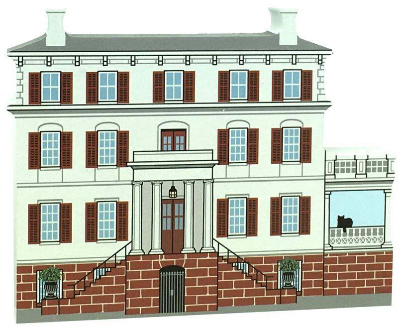 Wooden Replica Of Juliette Gordon Low Home, In Savannah, GA. Add This To