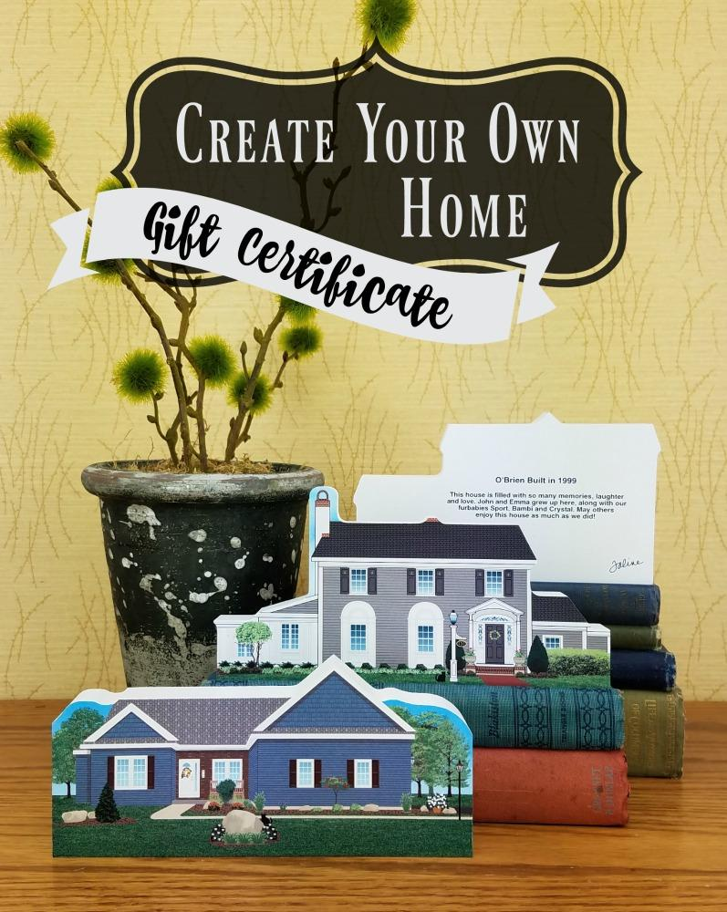 create your own home gift certificate the cat s meow village