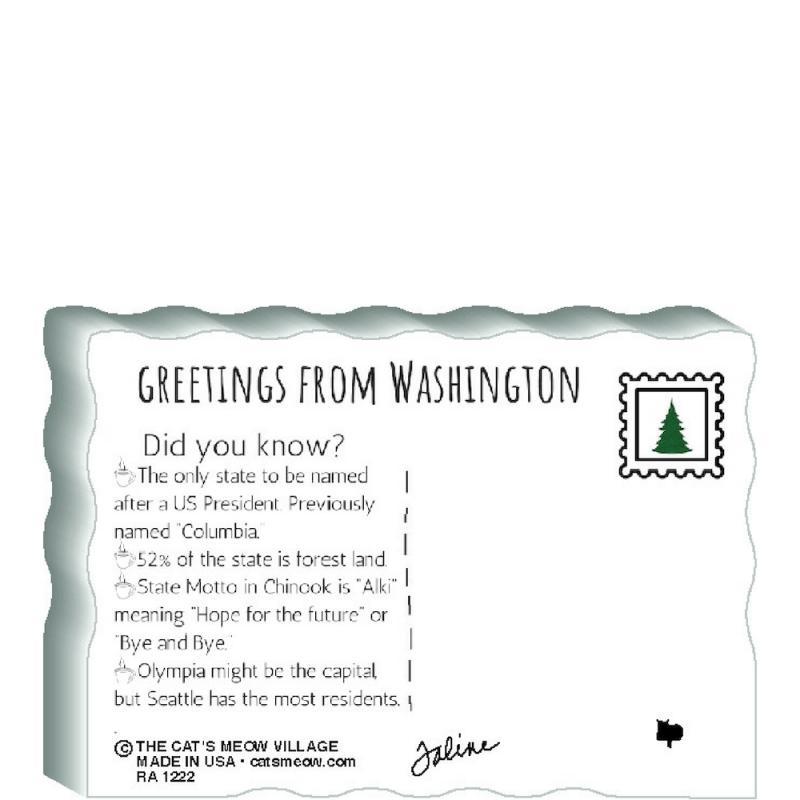 State Flag Postcard, Washington   The Cat's Meow Village
