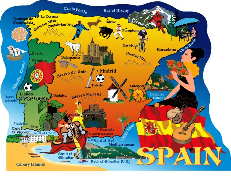 Spain Portugal Map The Cat S Meow Village