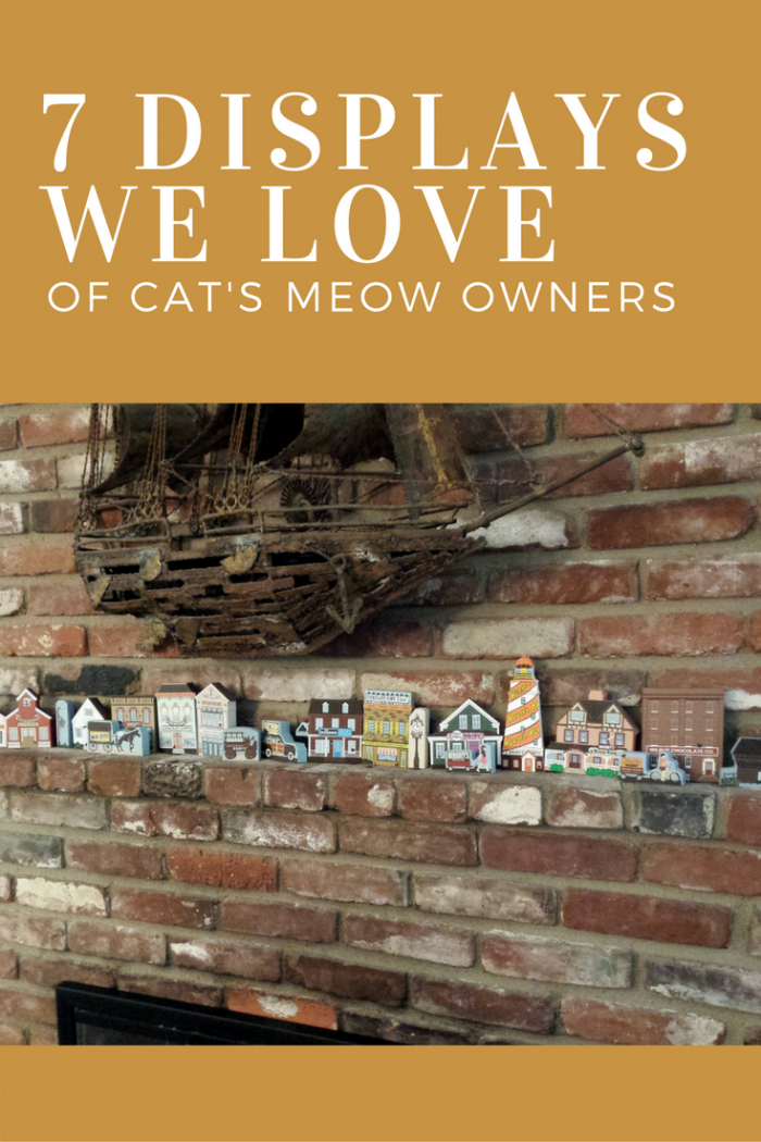 Get inspired by these 7 different ways to display Cat's Meows in your home.