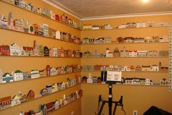 Julie from Minnesota displays her collection on her walls in a very unique way!