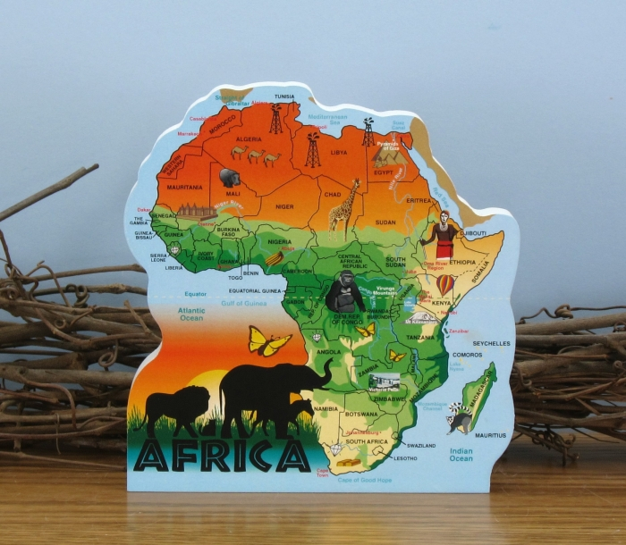Cat's Meow Map of Africa   Kenya