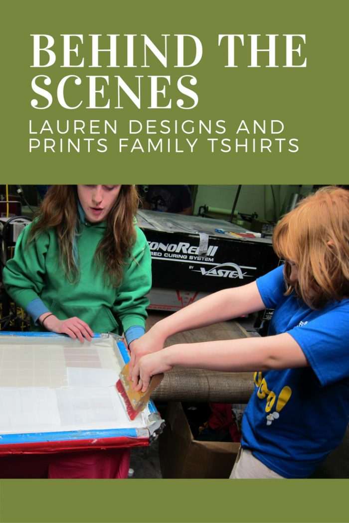 Lauren learns the basics of designing and screenprinting a tshirt at The Cat's Meow Village.