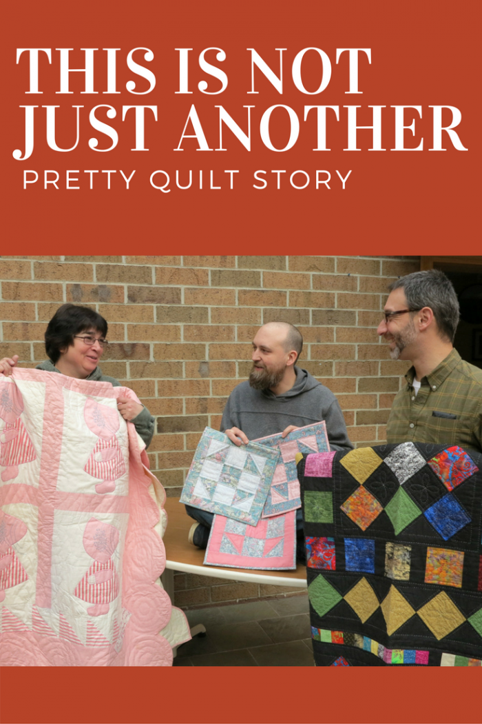 Cat's Meow crew members, Danette, Chris, and Brent share their family quilt stories.