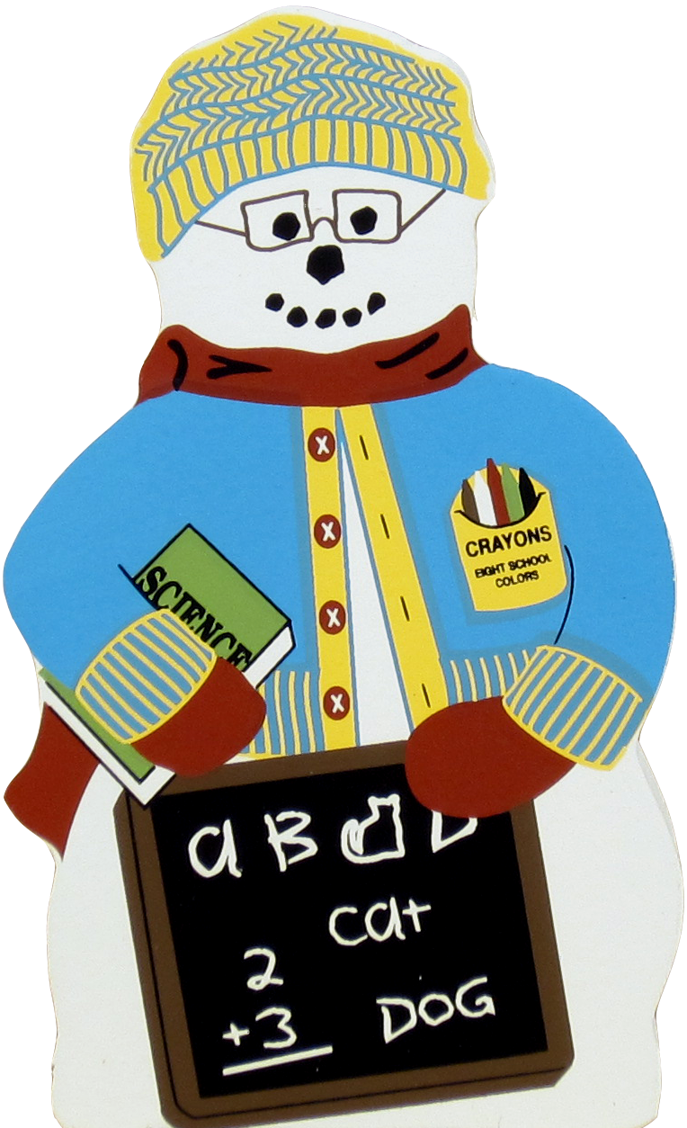 Back To School Snowman The Cat S Meow Village